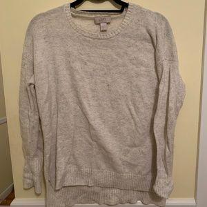 LOFT Marled Cream Sweater
